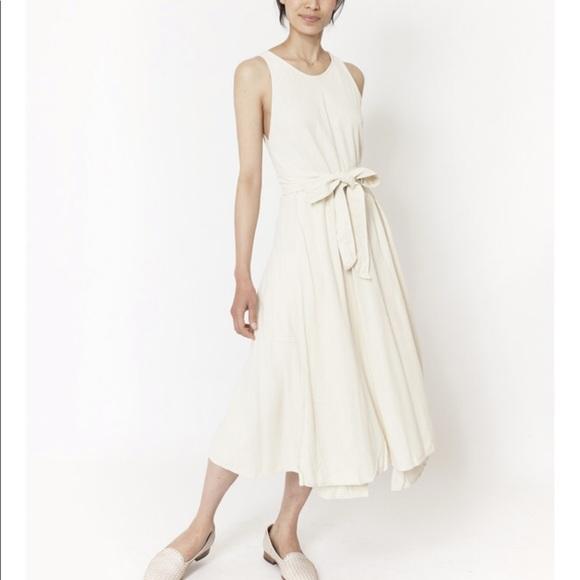 4f4f371148a7 Black Crane Dresses & Skirts - Black Crane White Silk Wrap Dress